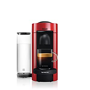 Nespresso VertuoPlus Coffee and Espresso Machine by De'Longhi, Red 1