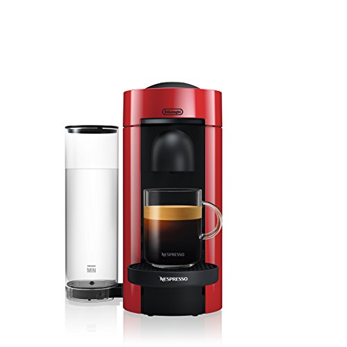 Nespresso by De'Longhi ENV150R VertuoPlus Coffee and Espresso Machine, Red