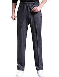 Men's Casual Cotton Jogger Sweatpants Zipper Front Pants