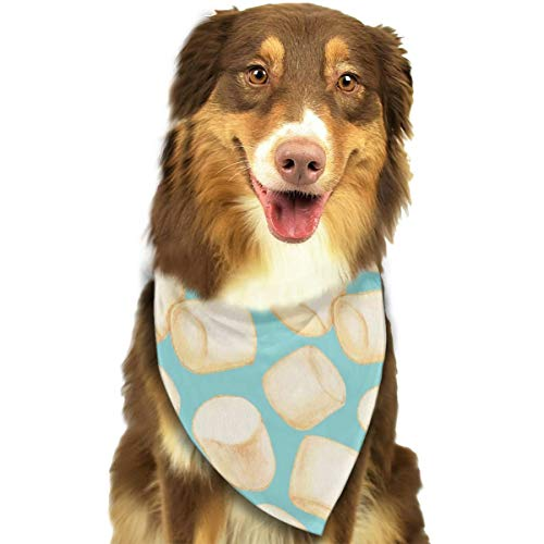 OURFASHION Marshmallows Blue Bandana Triangle Bibs Scarfs Accessories for Pet Cats and -