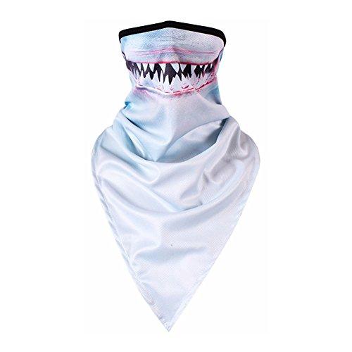 247803beb HaloVa Magic Scarf, Outdoor Anti UV Bandana Headband for Men Women, Shark