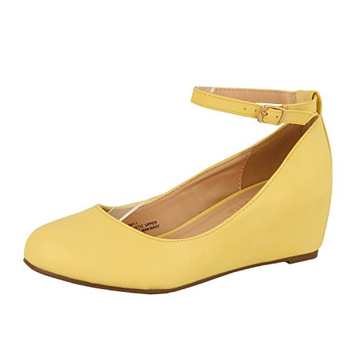 Yellow Platform Shoes - 8