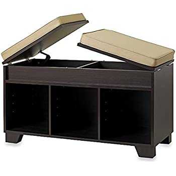 Split-Top Bench Storage Unit In Espresso  sc 1 st  Amazon.com & Amazon.com: Split-Top Bench Storage Unit In Espresso: Garden u0026 Outdoor