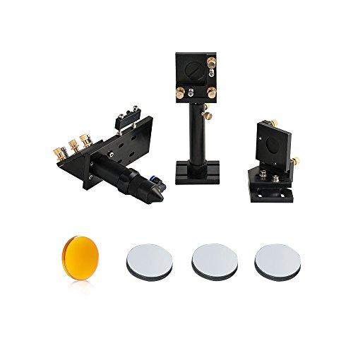 - Cloudray CO2 Laser Head Whole Set Incl. 2PCS Mirror Mounts, 1 PCS Focus Lens D20mm FL63.5mm and 3 PCS Laser Mirrors D25mm (Model B)