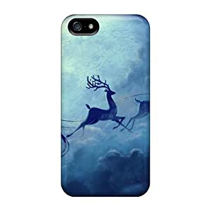 New Arrival Ho Ho Ho Santa Is Coming LcM7331IVuC Case Cover/ 5/5s Iphone Case