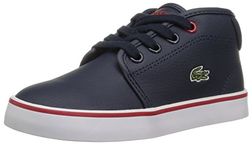Lacoste Kids' Ampthill Chukka Sneakers,Nvy/Grey synthetic,10. M US Toddler (Pop Lacoste Classic)