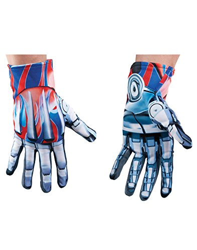 Mens Transformers The Last Knight Optimus Prime Gloves Costume Accessory