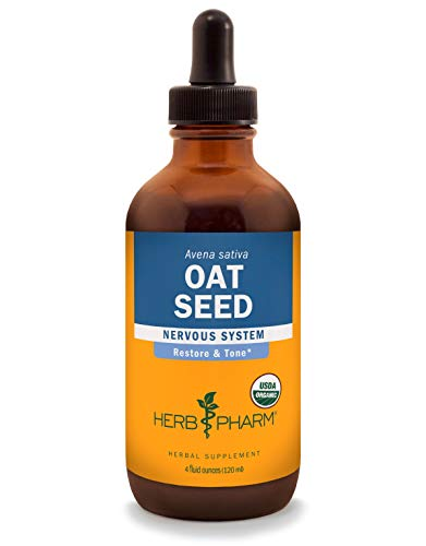 Herb Pharm Certified Organic Oat Seed Liquid Extract for Nervous System Support – 4 Ounce