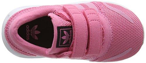 adidas Unisex-Kinder Los Angeles Cf Sneaker Low Hals Pink (Easy Pink/easy Pink/ftwr White)