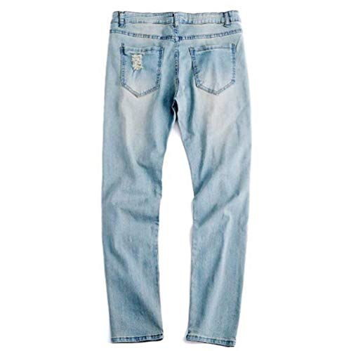 Densità Hx Dritti Comode Fashion Destroyed Pants Vita Uomo Slim Lavati Jeans Pantaloni A Taglie Vergilbung Denim Da Alta Abiti qrt6rFw