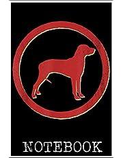 Notebook: Rhodesian Ridgeback Dog Retro Vintage 100 page 6x9 inch
