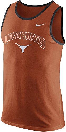 Nike Texas Longhorns Men's College Cotton Arch Tank Top Sleeveless Shirt (XL, Burnt Orange)