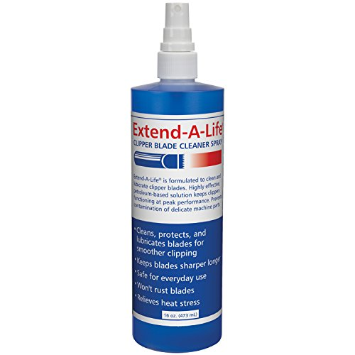 Top Performance Extend-A-Life Blade Rinses — Handy Spray Cleaners for Dog-Grooming Clippers, 16oz - Clipper Top