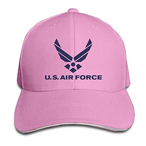 Adjustable Hat Cool Air Force Logo Snapback Trucker Golf Hats Baseball Dad Caps for Men/Women Pink