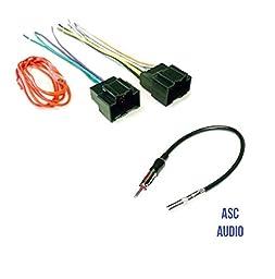 ASC Audio Car Stereo Radio Wire Harness Plug and Antenna Adapter for some Buick Chevrolet GMC Pontiac Saturn- 2007-2011 Avalanche Tahoe Silverado Sierra Yukon etc.
