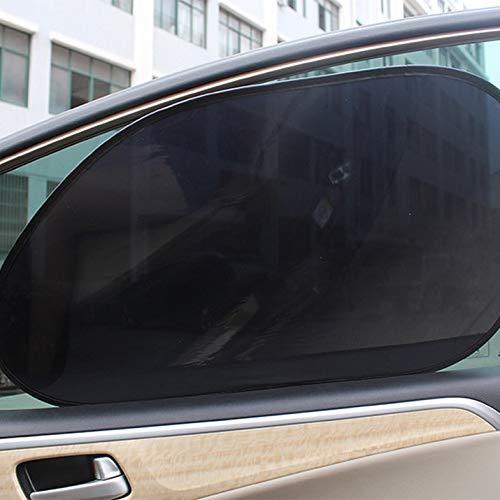 CamKpell 1 Par Parabrisas Trasero Parasol Sombras de Pel/ícula Electrost/ática para Coche Bloque Trasero Protector Solar Aislante Cortina para Ventana de Coche Negro