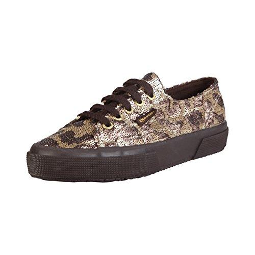 Effet Paillettes pour stores Camouflage Femme Superga Bronze Sp Baskets zxtYY0