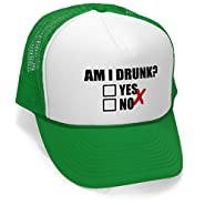 The Goozler AM I Drunk - YES Or No - Unisex Adult Trucker Cap Hat