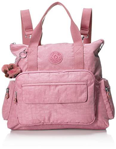 Kipling Women's Alvy 2-in-1 Convertible Tote Bag Backpack, Wear 2 Ways, Zip Closure, strawberry pink tonal