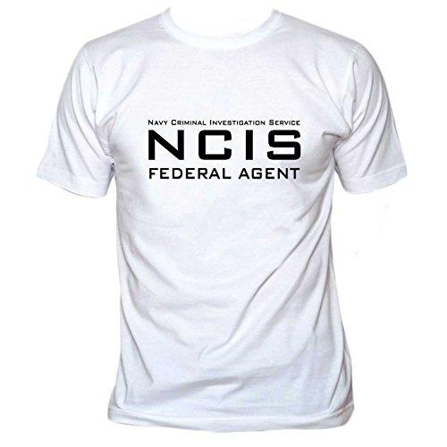 Tee Ncis Luxe Blanc Federal Shirt Agent rAZwqr0