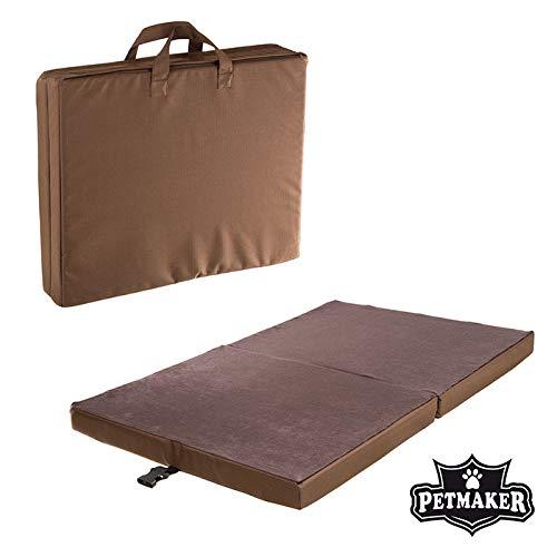 (PETMAKER 35 x 22 Portable Travel Folding Pet Bed - Chocolate Brown)