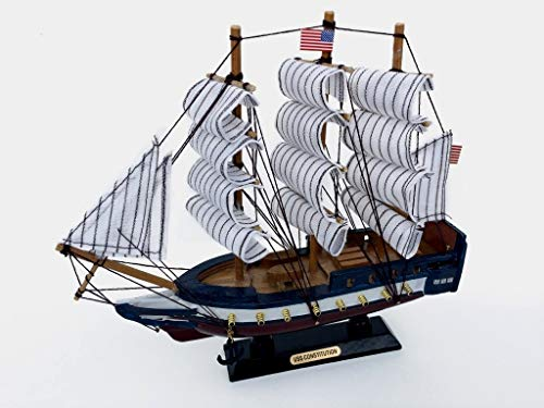 Wooden USS Constitution Scale Model Ship 10