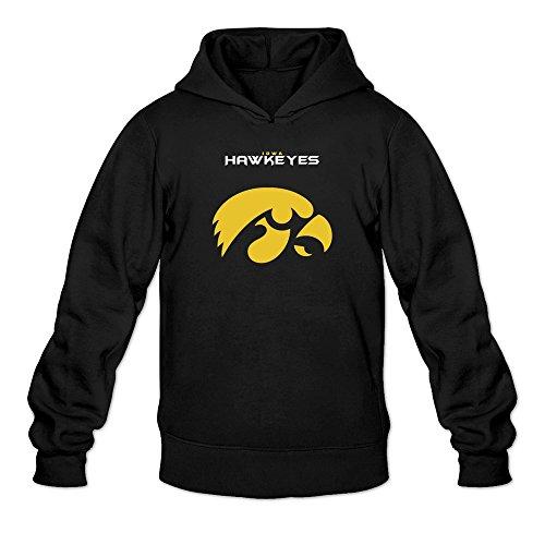 Men's Iowa Hawkeyes Eternal Win Logo Hoodie Black (10 Great Playoff Games)