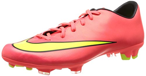 Nike Mens Mercurial Victory V Fg Soccer Cleat-Hyper Punch/Black/Volt/Metallic Gold Coin-11.5 (Football Coin)