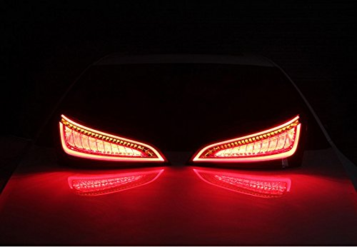 GOWE Car Styling for Audi Q5 2009-2015 LED Tail Lamp rear trunk lamp cover drl+signal+brake+reverse Dynamic steering taillight 4