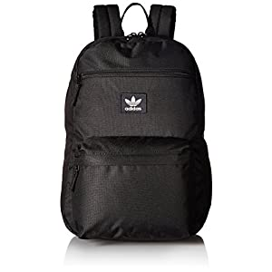 adidas Originals 201242 National Padded Backpack, Black/White, One Size
