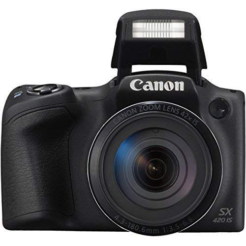 Canon PowerShot SX420 IS Digital Camera (Black) with 20MP, 42x Optical Zoom, 720p HD Video & Built-In Wi-Fi + 64GB Card…