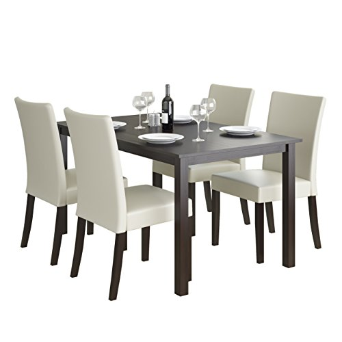 CorLiving 5 Piece DRG-795-Z3 Atwood Dining Set with Leathere