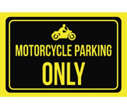 iCandy Combat Motorcycle Parking Only Print Black Yellow ...
