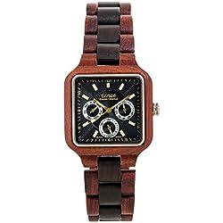Tense Men's Summit Multifunction Watch in Rosewood and Dark Sandalwood B7305RD-BG