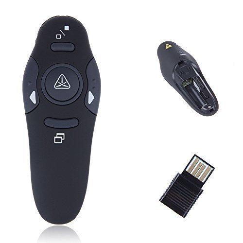 MP power ® Schnurloser Presenter mit rotem Laserpointer - Kabellose Powerpoint Fernbedienung Unterstützte Betriebssysteme: Windows 8, 7, Vista, XP, Mac OS & Linux