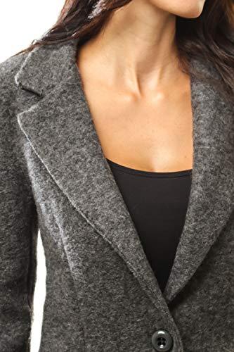 Doucel Boutonné Droite Creations Anthracite Du Doublure Comptoire Le Femme Manteau Coupe OfUwdTq