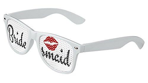 LogoLenses Wedding Bridesmaid Classic Sunglasses White -