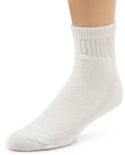 Wigwam Men's Super 60 Ouarter 3 Pack Socks,White,XL/shoe Size: Men's - Quarter Wigwam Socks