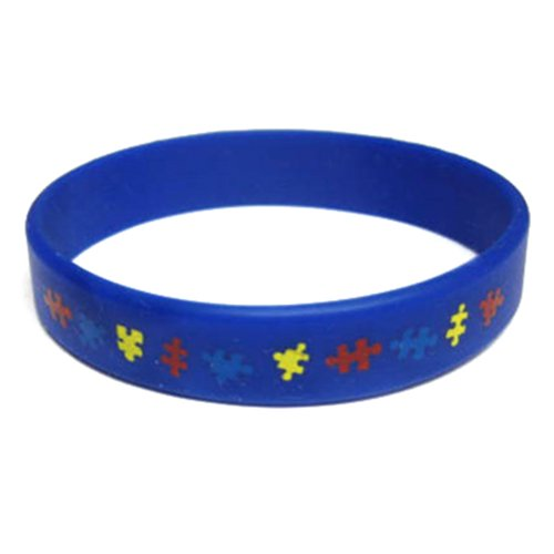 PinMart's Autism Awareness Youth Childrens Size Rubber Silicone Bracelet