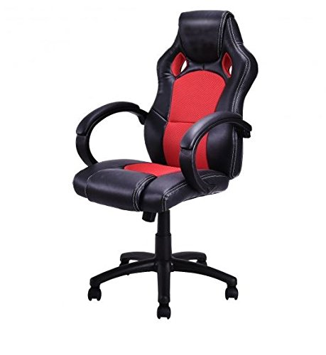 MD-Group-Gaming-Chair-High-Back-Race-Car-Style-Bucket-Seat-Red-Adjustable-Height-Swivel