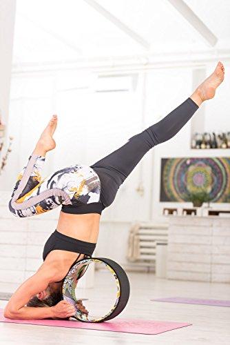 Yoga EVO 13'' Yoga Wheel – Strong & Comfortable Dharma Yoga Prop For Inversions & Backbends