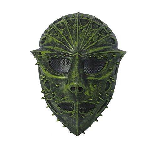 [LYongBF YFY11B Resident Evil Demonic Horror Mask Halloween Mask Radiation Protective Fiberglass Mask (Black and] (Demonic Masks)