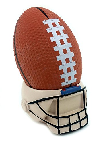 (Football Stress Ball with Helmet Stand)