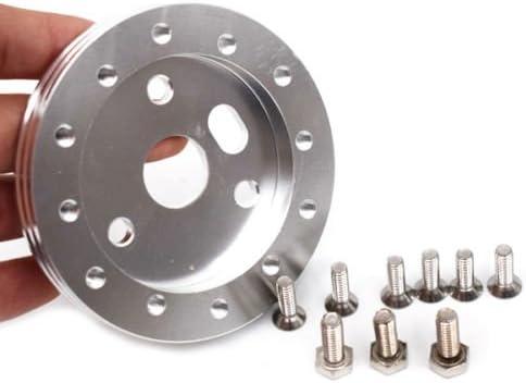 "Aluminum 0.5/"" Hub for 5/& 6 Hole Steering Wheel to Grant 3 Hole Adapter Boss 1//2/"""