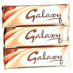 Galaxy Milk Chocolate Bar 46gr (1.6oz)-pack 3 Bars by Mars