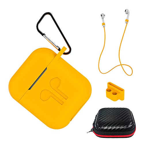 AICEK Cover Compatible with AirPods 1 and 2 Silicone Skin for Apple AirPods Charging Case Full Protective Accessories…
