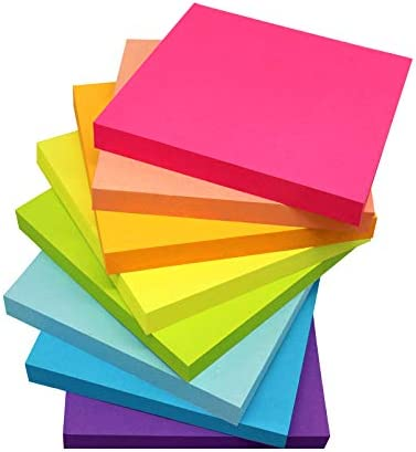 (8 Pack) Sticky Notes 3×3 Inches,Bright...