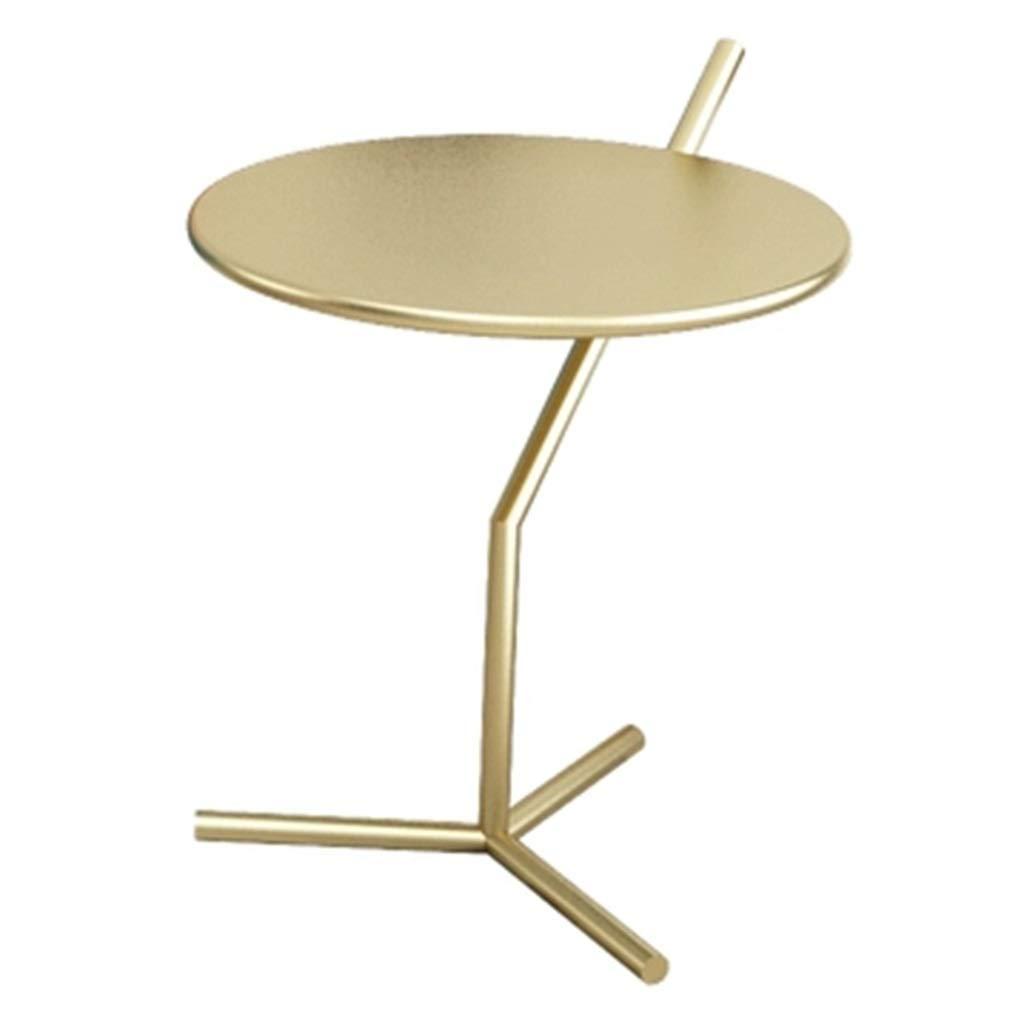 Tavolini da caffé Tavolino Lato Divano Tavolino rossoondo Letto Tavolino Mobile Ad Angolo Mobile Tavolino Casual Tavolino Regalo (Colore   oro, Dimensione   46  46  50cm)