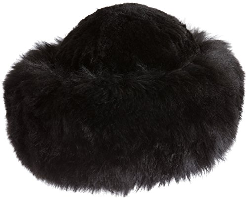 Premium Peruvian Baby Alpaca Fur Cossack Hat, Black, Size 1 Size by Overland Sheepskin Co