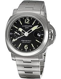 Men's PAM00297 Luminor GMT Black Dial Watch
